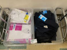 CONTENTS TO 2 TRAYS INCLUDING BLOUSES AND TROUSERS APPROX 50 ITEMS