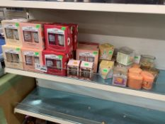 40 X VARIOUS I LOVE CANDLE AND BODY WASH SETS/CANDLES