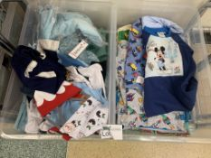 CONTENTS TO 2 TRAYS OF DISNEY CLOTHING, GEORGE HOME CLOTHING ETC APPROX 40 ITEMS