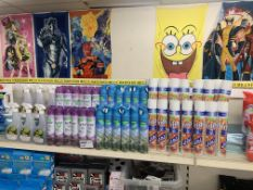 APPROX 50 ITEMS TO INCLUDE ODOUR ELIMINATOR, AIR FRESHENERS ETC