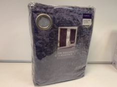8 X NEW SEALED SETS OF THE ELEGANCE COLLECTION VELVET 90x90 INCH CURTAINS. RRP £80 PER SET