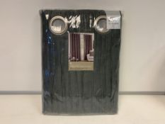 10 X NEW SEALED SETS OF THE RANGE RIPPLE PEWTER EMBELLISHED LINED CURTAINS SIZE: 46(W) X 54 (D)