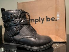 NEW & BOXED SIMPLYBE SHOES SIZE JUNIOR 6 (319 UPSTAIRS)