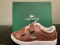 NEW & BOXED LACOSTE TRAINERS SIZE INFANT 9 (206 UPSTAIRS)