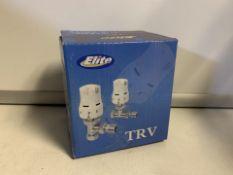 2 X NEW BOXED SETS OF ELITE TRV THERMOSTATIC RADIATOR VALVES (411/28)