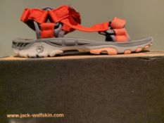 NEW & BOXED JACK WOLFSKIN SANDALS SIZE JUNIOR 5 (220 UPSTAIRS)