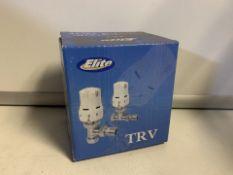 2 X NEW BOXED SETS OF ELITE TRV THERMOSTATIC RADIATOR VALVES (409/28)