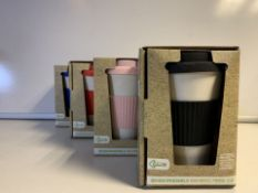 6 x NEW BOXED ECO CONNECTION BIODEGRADABLE BAMBOO FIBRE MUGS (185/28)