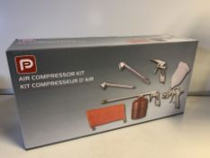 NEW BOXED PP 5 PIECE AIR COMPRESSOR KIT (509/28)