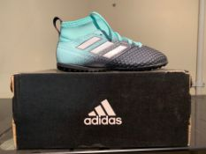 NEW & BOXED ADIDAS AQUA TRAINERS SIZE INFANT 12 (153 UPSTAIRS)