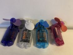 12 x NEW BATTERY POWERED MINI HAND HELD FANS (1756/28)