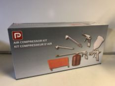 NEW BOXED PP 5 PIECE AIR COMPRESSOR KIT (373/28)