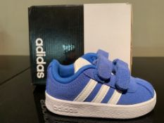 NEW & BOXED ADIDAS TRAINERS SIZE INFANT 3 (272 UPSTAIRS)