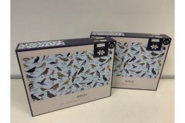 5 x NEW BOXED M&S BIRDS 500 PIECE JIGSAW PUZZLES (257/28)