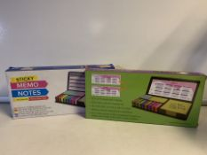 10 x NEW PACKAGED LARGE STICKY MEMO NOTES SET (190/28)