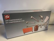 NEW BOXED PP 5 PIECE AIR COMPRESSOR KIT (508/28)