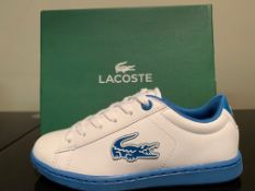 NEW & BOXED LACOSTE TRAINERS SIZE INFANT 12 (259 UPSTAIRS)