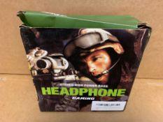 1 X NEW & BOXED STEHEO HIGH POWER BASS HEADPHONE (50/28)
