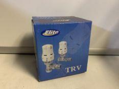 2 X NEW BOXED SETS OF ELITE TRV THERMOSTATIC RADIATOR VALVES (408/28)