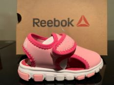 NEW & BOXED REEBOK SANDALS SIZE INFANT 5 (122 UPSTAIRS)