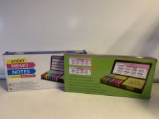10 x NEW PACKAGED LARGE STICKY MEMO NOTES SET (192/28)