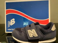 NEW & BOXED NEW BALANCE TRAINERS SIZE INFANT 8 (212 UPSTAIRS)