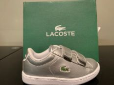 NEW & BOXED LACOSTE TRAINERS SIZE INFANT 5 (163 UPSTAIRS)