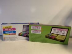 10 x NEW PACKAGED LARGE STICKY MEMO NOTES SET (193/28)