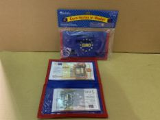48 X BRAND NEW LEARNING RESOURCES WALLETS WITH EURO NOTES (286/4)