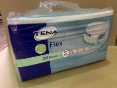 15 X BRAND NEW PACKS OF 30 TENA FLEX SMALL SUPER PADS (307/4)