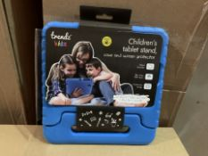 36 X BRAND NEW TRENDZ KIDS CHILDRENS TABLET STAND CASE AND SCREEN PROTECTOR (344/4)