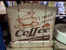 8 X BRAND NEW CARRICK DESIGN COFFEE DÉCOR RECIPE BOOK HOLDERS 28 X 28CM (354/4)