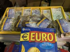12 X BRAND NEW LEARNING RESOURCES EURO MONEY SETS (309/4)