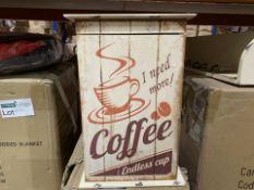8 X BRAND NEW CARRICK DESIGN COFFEE DÉCOR KEY BOXES 20 X 30CM (325/4)