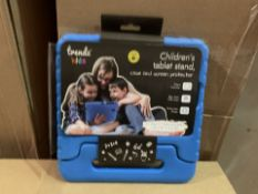 36 X BRAND NEW TRENDZ KIDS CHILDRENS TABLET STAND CASE AND SCREEN PROTECTOR (345/4)