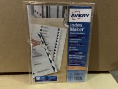 120 X SETS OF 10 TAB CLEAR INDEX MARKERS (322/4)