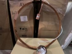 5 X BRAND NEW ICONIC LIGHTS COPPER LOOP CEILING PENDANTS (328/4)