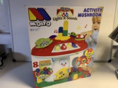 PALLET TO CONTAIN 24 X BRAND NEW BOXED MOLTO ACTIVITY MUSHROOMS RRP £49.99 EACH
