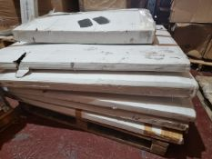 (M58) PALLET TO CONTAIN 6 x BOXED RADIATOR COVERS IN VARIOUS STYLES. ORIGINAL PALLET RRP CIRCA £1,
