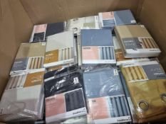 (Z86) PALLET TO CONTAIN 115 x GOOD HOME CURTAINS - TAOWA & MELFI IN VARIOUS SIZES & COLOURS