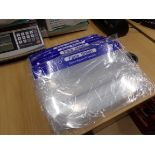 30 X BRAND NEW CLEAR PLASTIC FACE SHIELDS