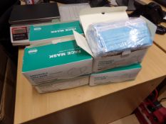 8 X BRAND NEW BOXES OF 50 DISPOSABLE MASKS
