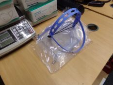 30 X BRAND NEW CLEAR PLASTIC POVOTING FACE SHIELDS