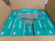 40 X BRAND NEW BOXES OF 50 DISPOSABLE MASKS