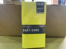 24 X BRAND NEW ESSENTIAL STUDIO SINGLE FITTED SHEETS