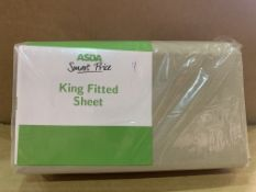 45 X BRAND NEW ASDA KING FITTED SHEETS