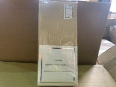 20 X BRAND NEW KING SIZED LUXURY PLAIN DYED BED LINEN FITTED SHEETS IN 2 BOXES