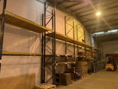 7 BAYS OF VARIOUS PALLET RACKING INCLUDING LINK 51: SIZE: APPROX. 5.3M(H) X 0.9M(D) X 2.8M(L).
