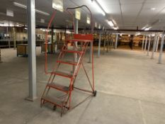 6 STEP PORTABLE WAREHOUSE LADDER RED
