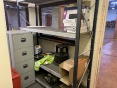 CONTENTS OF OFFICE TO INCLUDE RACKING, FILING CABINETS, DESK, CHAIR, DYNO LABEL PRINTER ETC